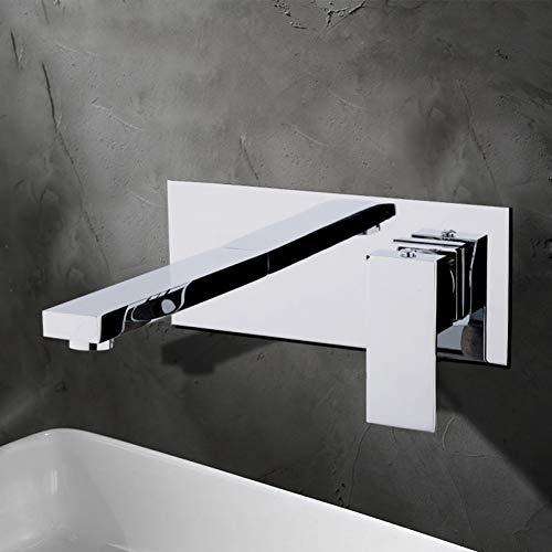 Rubinetto da cucina CHEN Moda Cromo Ottone Miscelatore monocomando per lavabo Miscelatore da incasso a parete caldo e freddo Rubinetto per lavello Rubinetti per lavabo