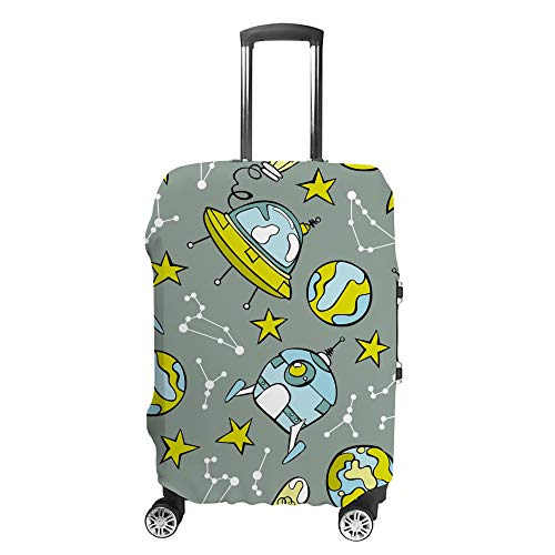 CHEHONG Valigia Copertura Bagagli Space Rocket Travel Trolley Case Protettiva Lavabile Fibra di Poliestere Elastico Antipolvere