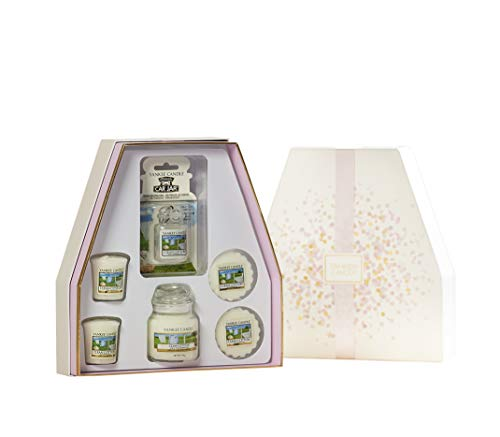 Yankee Candle set regalo candele profumate, Cotone pulito, candela in giara piccola, candele votive, tart e Car Jar