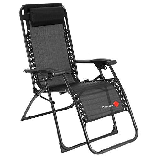 FLAMROSE 【無重力チェア】 リビングルーム家具 キャンプ椅子 - 折りたたみ マルチポジションチェア 耐荷重...