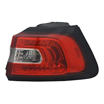 Go-Parts - for 2014 - 2018 Jeep Cherokee Rear Tail Light Lamp Assembly / Lens / Cover - Right  Passenger  Side Outer 68102906AF CH2805107 Replacement 2015 2016 2017