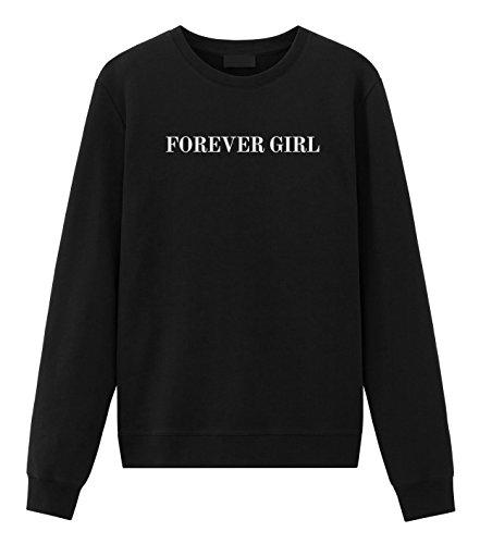Ariana Grande Forever Girl Dangerous Woman Sweatshirt Pullover Black Medium