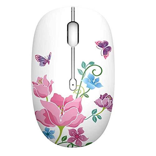STBAAS Ratón, Oficina de Transferencia de Silencio Wireless Home Agua de Dibujos Animados portátil de sobremesa silenciosa ratón óptico 2.4Ghz Optical Travel Mouse, 3 Botones (Color : B)
