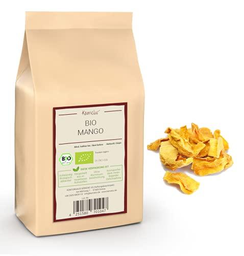 Kamelur 1kg BIO Mango getrocknet, ungeschwefelt und ungezuckert - getrocknete Mango (dried mango) ohne Zucker