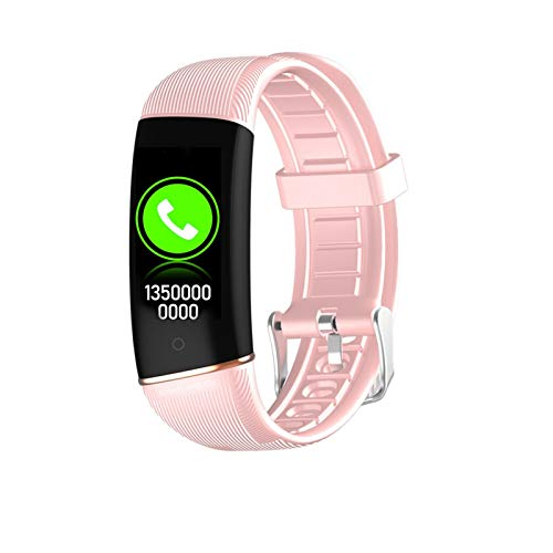 YNLRY Muñeca Inteligente Temperatura Corporal Presión Arterial Monitor De Frecuencia De Ritmo Cardíaco para Android iOS Pulsera Inteligente Aptitud Adulto (Color : Pink)