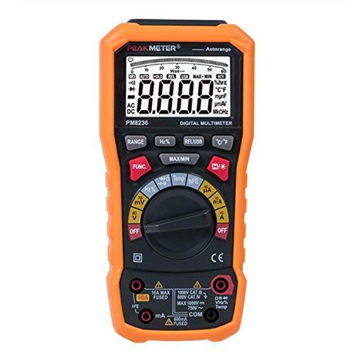 CENPEN PM8236 Manual Auto rango multímetro digital TRMS con 1000V Capacitancia Temperatura Frecuencia de prueba probador digital multifuncional