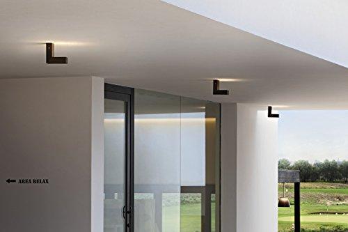 Applique pivotante LED 9W architecturale extérieur noire 200X200X85mm blanc chaud 3000K 546lm IP55 45ADJ FLOS F0070030