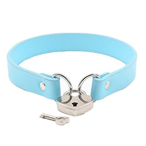 DPWELL Liebhaber Herz Kette Halskette Metall Herz Vorh/ängeschloss Choker Anh/änger Kragen f/ür M/änner Frauen Haustier