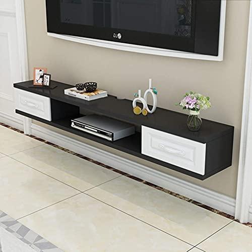 N/Z Equipo para el hogar Gabinete de TV Flotante Consola Multimedia montada en la Pared Estante Reproductor de Muebles Centro de Entretenimiento Consola de Videojuegos Caja de Cable Altavoz