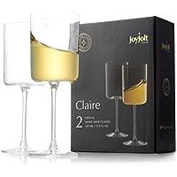 2-Set JoyJolt Deluxe Ultra-Elegant Design Crystal Wine Glasses