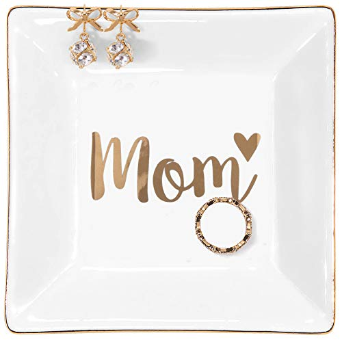 Kaidouma Mother's Gift for Mom, Birthday Gifts for Mother from Daughter Son Ring Trinket Dish, Mother Gift for Christmas Thanksgiving Day Jewelry Tray