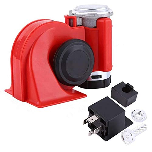 cheap SoundOriginal 12Volt Loud Car Air Horn Big Truck Horn 150db with Auto Relay Electric Horn for Truck Auto Motorcycle(Red)