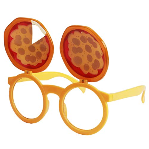 Spaß Spass Brille Partybrille Sonnenbrille Faschingskostüm Karnevalskostüm Requisiten Foto Props - Pizza