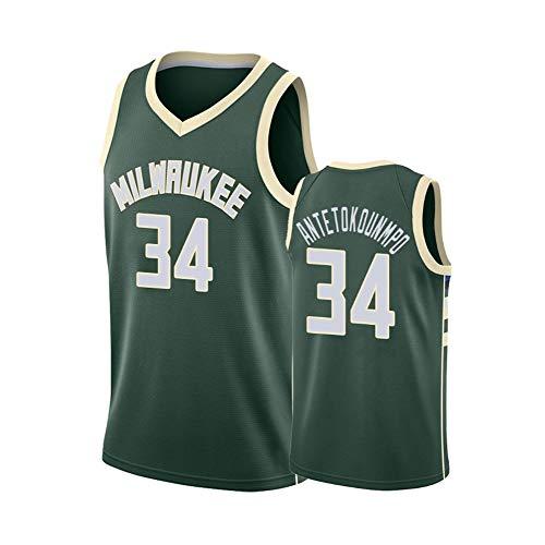 # 34 Antetokounmpo Basketbal pak Jersey kleding Vest T-Shirt Sportkleding Nieuw seizoen Fans Training dragen Outfit Mannen Borduurwerk afdrukken City Edition Multi-Kleur optioneelS-XXL