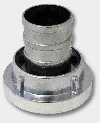 Wiltec Storz-Kupplung C 52 mm mit langem Stutzen Schlauchkupplung Aluminium