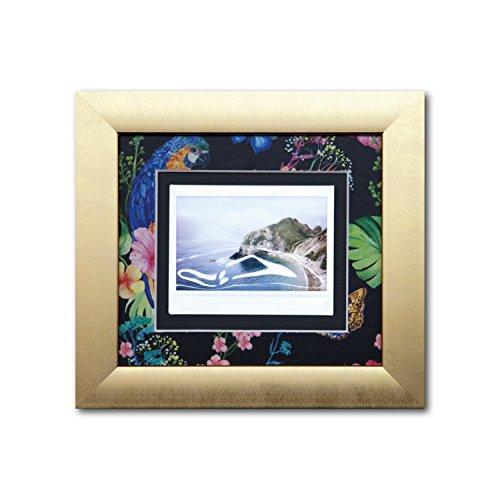 Instax Rahmen Tropical - Einrahmung für Instax Fotos - Instax Wide, Instax Mini, Instax Square - Bilderrahmen mit Echtglas und Aufhänger für Hoch und Querformat - dekoratives Passepartout mit Rückwand - 1 Foto im Rahmen