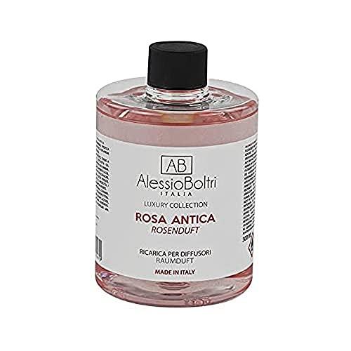 AB Alessio Boltri - Ricarica per diffusori Luxury 500 ml, profumazione Rosa Antica