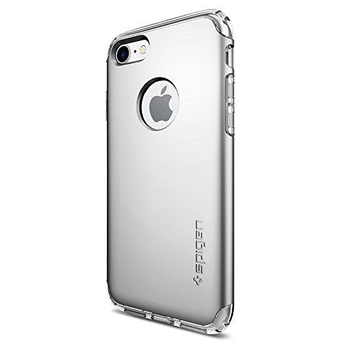 Spigen Coque iPhone 7, Housse [Hybrid Armor] AIR Cushion [Argent] Clear TPU/PC Frame Slim Dual Layer Premium Coque pour iPhone 7 -...