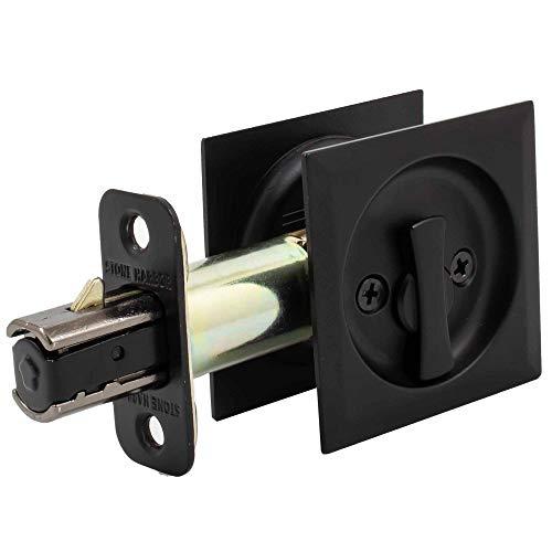 Contemporary Square Pocket Door Lock Privacy/Bed/Bath