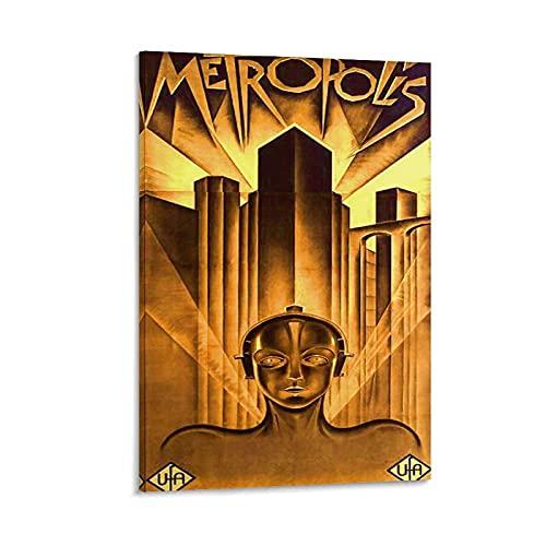 xiaochou Póster de Metropolis de la película alemana clásica y de la pared de Metropolis - Cuadro moderno para dormitorio familiar (20 x 30 cm)