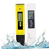 Sanfiyya Metro de Prueba Calidad del Agua TDS PH CE Temperatura 4 en 1 Set