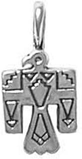 925 Sterling Silver Native American Indian Thunderbird Hawk Eagle Charm Pendant