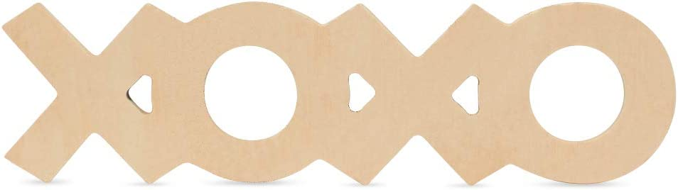 Wooden XOXO Decor Letters 出色 Unfinished 12 inches 25 Pack of 超人気
