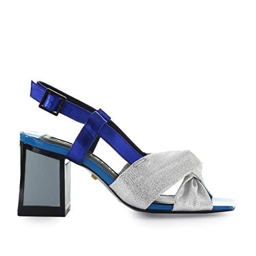 Kat Maconie Siver Blue Ada Sandal Woman Ss 2019