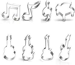 Anokay Muziekinstrument muziek noot - uitsteekvormen set uitsteekvormen brood van roestvrij staal voor kinderen - koekjess...