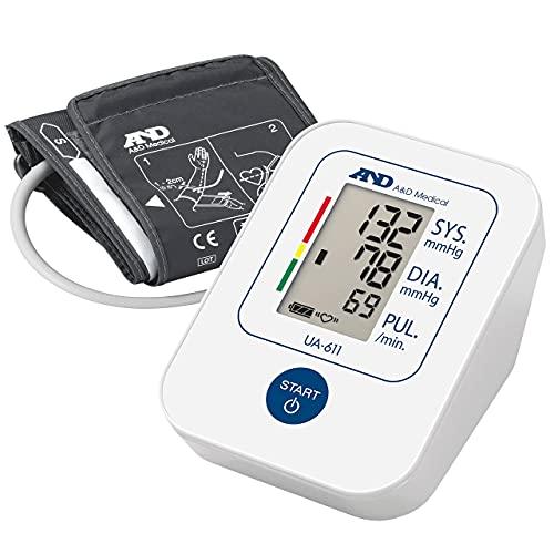 A&D Medical, Ua-611 Tensiómetro De Brazo Digital, Lecturas De Presión Arterial Rápidas, Cómodas Y Precisas, Validado Clínicamente, Blanco