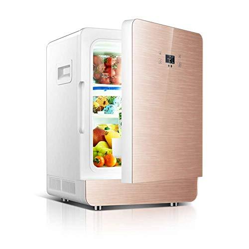 Kievy Refrigerador y Enfriador termoeléctrico Mini congelador 12v / 220v, CNC, 20l, portátil, Adecuado para automóviles y oficinas, Barcos (Color : Gold)