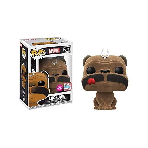 Funko POP! Marvel Inhumanos: Lockjaw Flocked Exclusivo