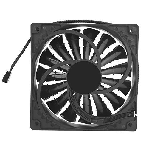 Zunate Ventilador de refrigeración de CPU, 12V PWM 2000RPM Ventilador de refrigeración silencioso hidráulico CPU Refrigerador de chasis Radiador para computadora de Escritorio, 120 x 120 mm(Negro)