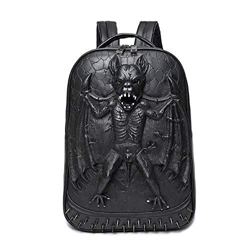 MBFAN 3D Batman backpack male pu backpack waterproof bag mysterious black 24 inch