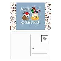 クリスマスギフトクリスマスフェスティバルのヘラジカ 公式ポストカードセットサンクスカード郵送側20個