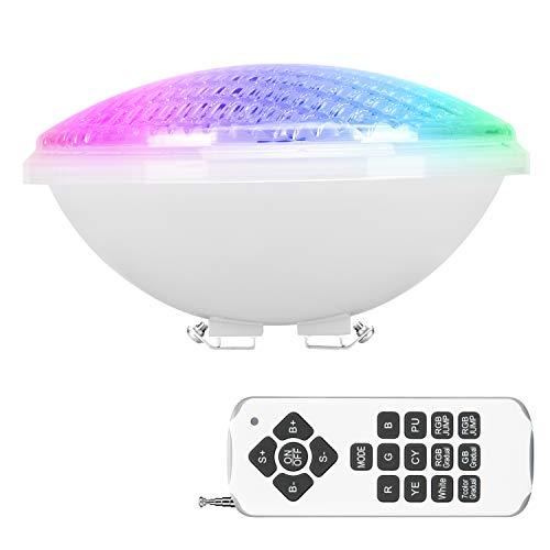 RGBW Luz de Piscina, 40W Luces LED para Piscina PAR56, Iluminación de piscinas con Control Remoto, 12V AC/DC Impermeable IP68 Luces de piscina