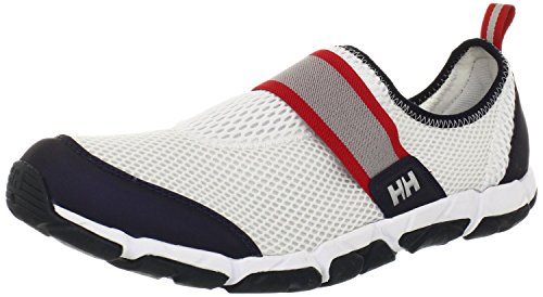 Helly Hansen The Watermoc 5 Chaussures Basses Hommes, Blanc/Navy, 9.5