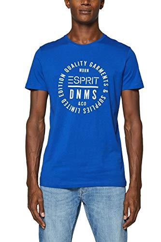 ESPRIT Herren 999EE2K800 T-Shirt, Blau (Bright Blue 410), Large (Herstellergröße: L)