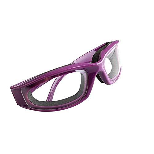 Wilk Professionelle Dauerhafte Zwiebel Schutzbrille tragen Zwiebelbrille leichtgewichtig Slicing Augenschutz (lila)