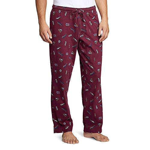 Eddie Bauer Men's Legend Wash Jersey Sleep Pants - Print, Dk Berry Regular XL