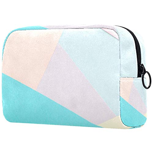 Cosmetic Bags Beautiful Makeup Bags Cosmetic Display Cases Durable Travel Cases Portable Makeup Bags Makeup Organizers light geometric polygon 7.3x3x5.1in