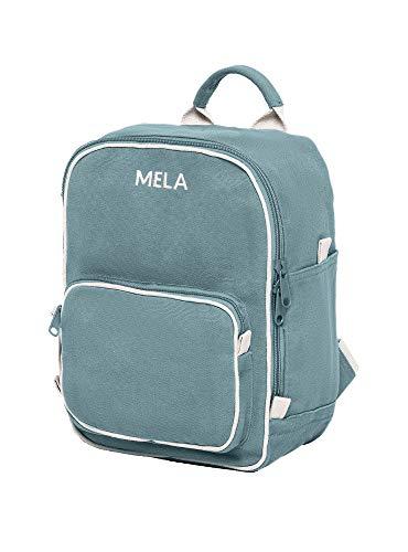MELAWEAR MELA II mini Rucksack - Nachhaltig mit Fairtrade Cotton, GOTS und Grüner Knopf Zertifizierung, Farben MELA II:petrol