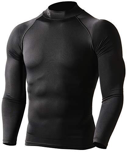 Defender New Men's Winter Compression Mock Shirts Baselayer Tights Soccer BB_L