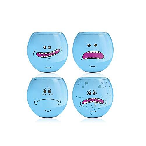Set of Four Official Rick and Morty Mr. Meseeks Shot Glasses, 2oz