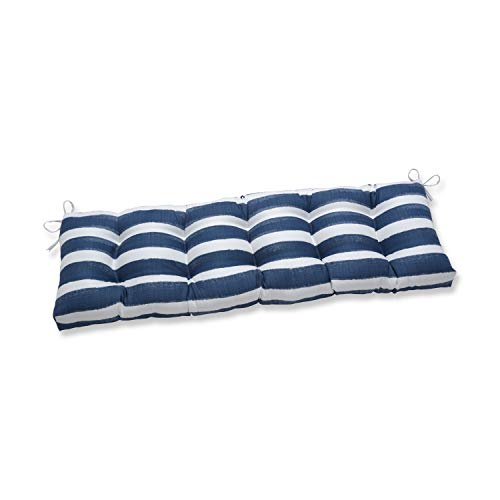 Pillow Perfect Outdoor Indoor Nico Zaffre X 18 1 Tufted Bench/Swing Cushion, 60' x 18', Blue