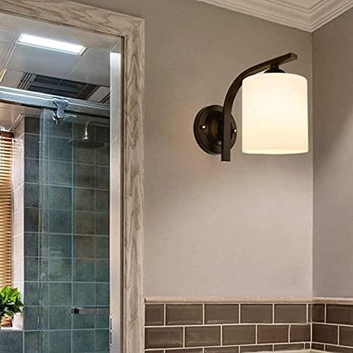 YNSH Lámpara de Pared Lámpara de Pantalla cilíndrica de Vidrio Lámpara de Pared Lámpara de Noche Lámpara de diseño Retro Vintage Lámpara de Pared Lámpara de Pasillo Balcón Bar Oslash D13CM