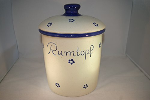 Töpferei Seifert 5 Liter Rumtopf Avena Grade handbemalt Steinzeug
