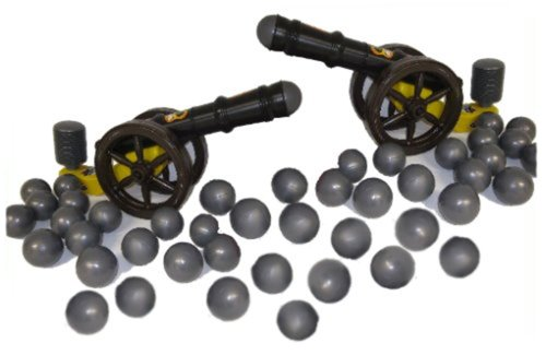 koenig-tom 2X Kanone f. Bällebad Bälle Ballkanone Bällebadkanone Kanone im Set + 150 Kanonenkugeln ( Tüv geprüft und Zertifiziert 2019)