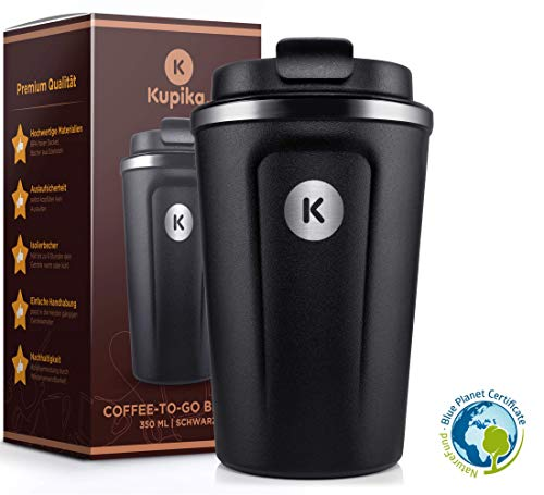 Kupika ® Kaffeebecher to go - Thermobecher [350 ml] - 100% dicht &...