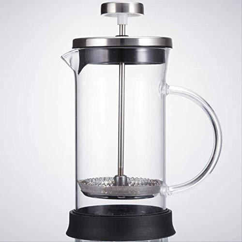 Franse drukpot met de hand geperforeerde koffie set brouwen filter melk filter thee thuis Frans glas koffie-apparaten 600ml
